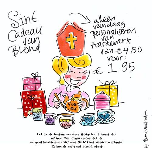 Grote Sinterklaasspel: Blond Amsterdam Sint actie