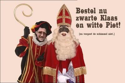 Grote Sinterklaasspel: Zwarte klaas en witte piet