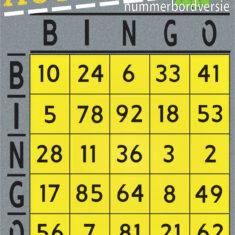 autobingo - nummerbordversie voorkant